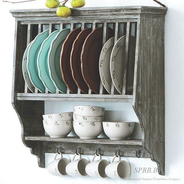 Настенная полка для посуды