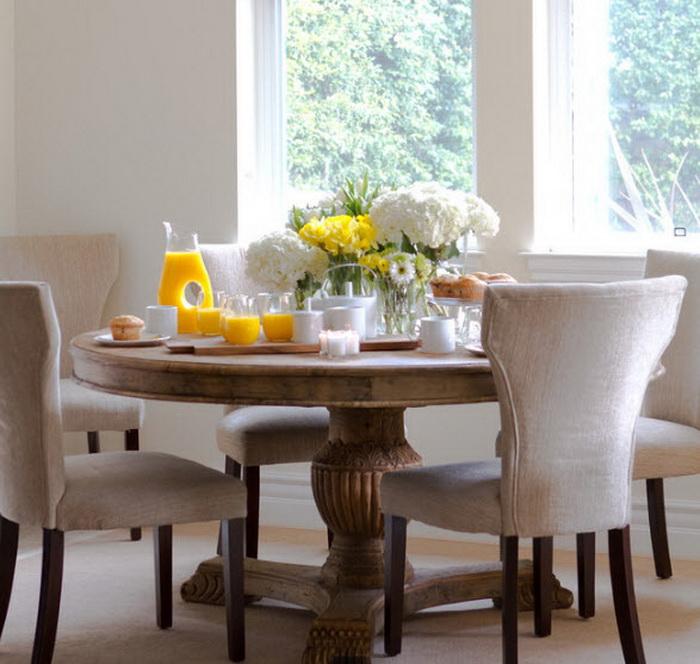 Круглые столы в интерьере