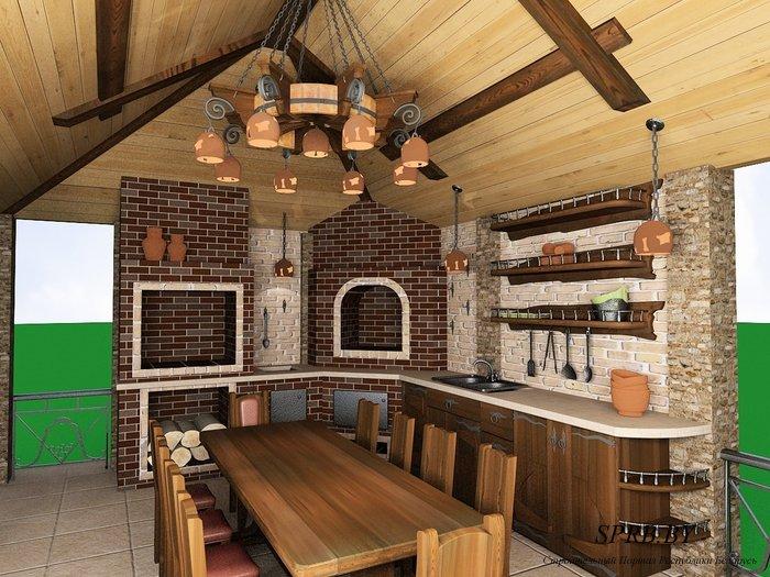 Летняя кухня своими руками проекты фото
