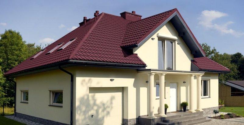 Крыши из металлопрофиля фото