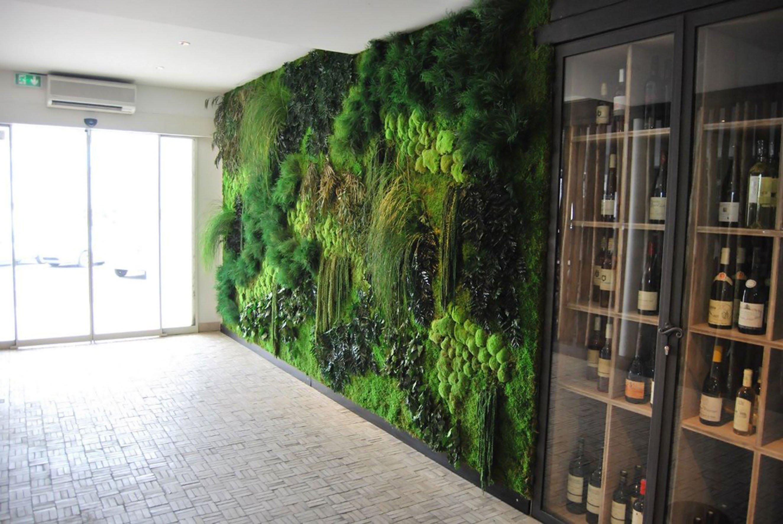 Декоративный мох: стены и картины из мха.