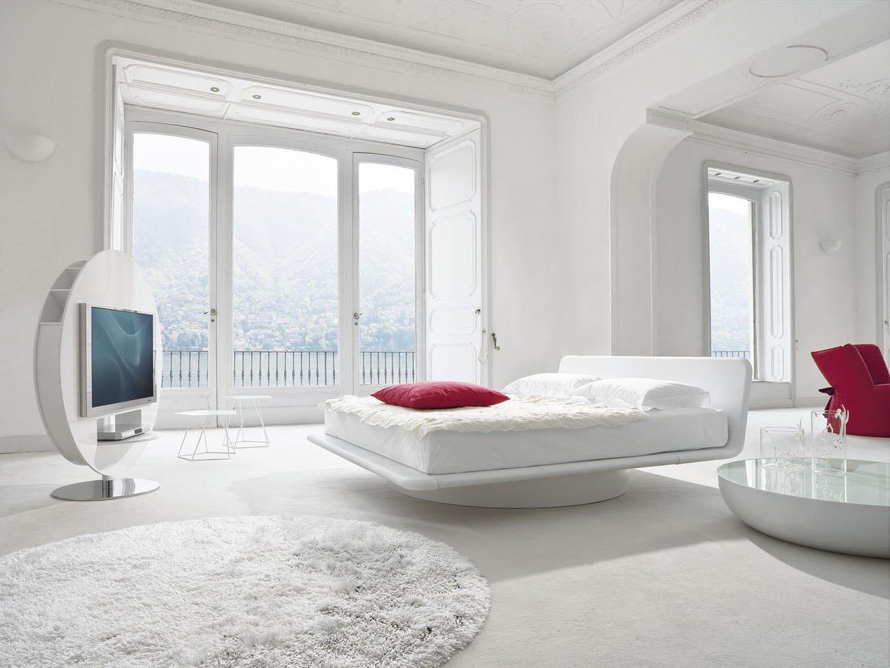 147Дизайн спальной комнаты в белом цвете