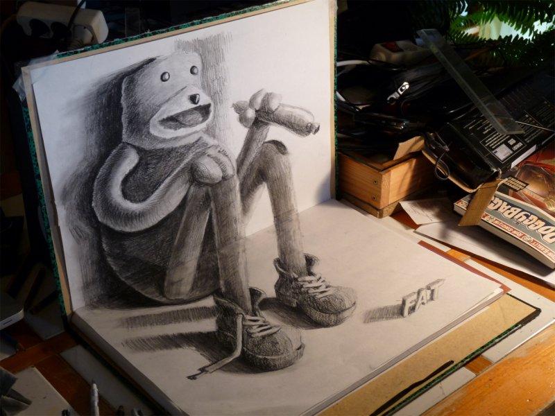 Как нарисовать рисунок в триде