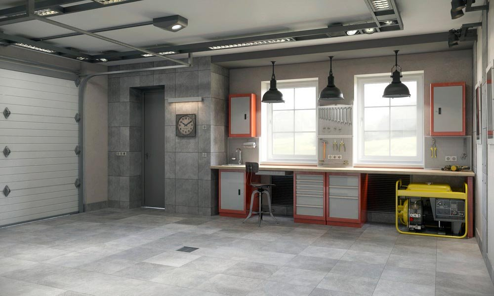 Внутренний дизайн гаражей в
