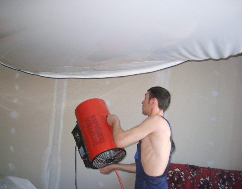 Потолки натяжные как их делать
