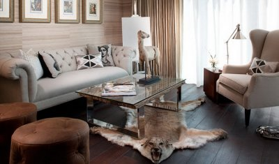 Диван Честерфилд в интерьере квартиры