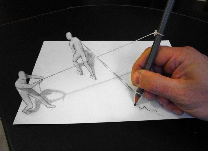 3D рисунки. Как это можно применить в интерьере? Фото.